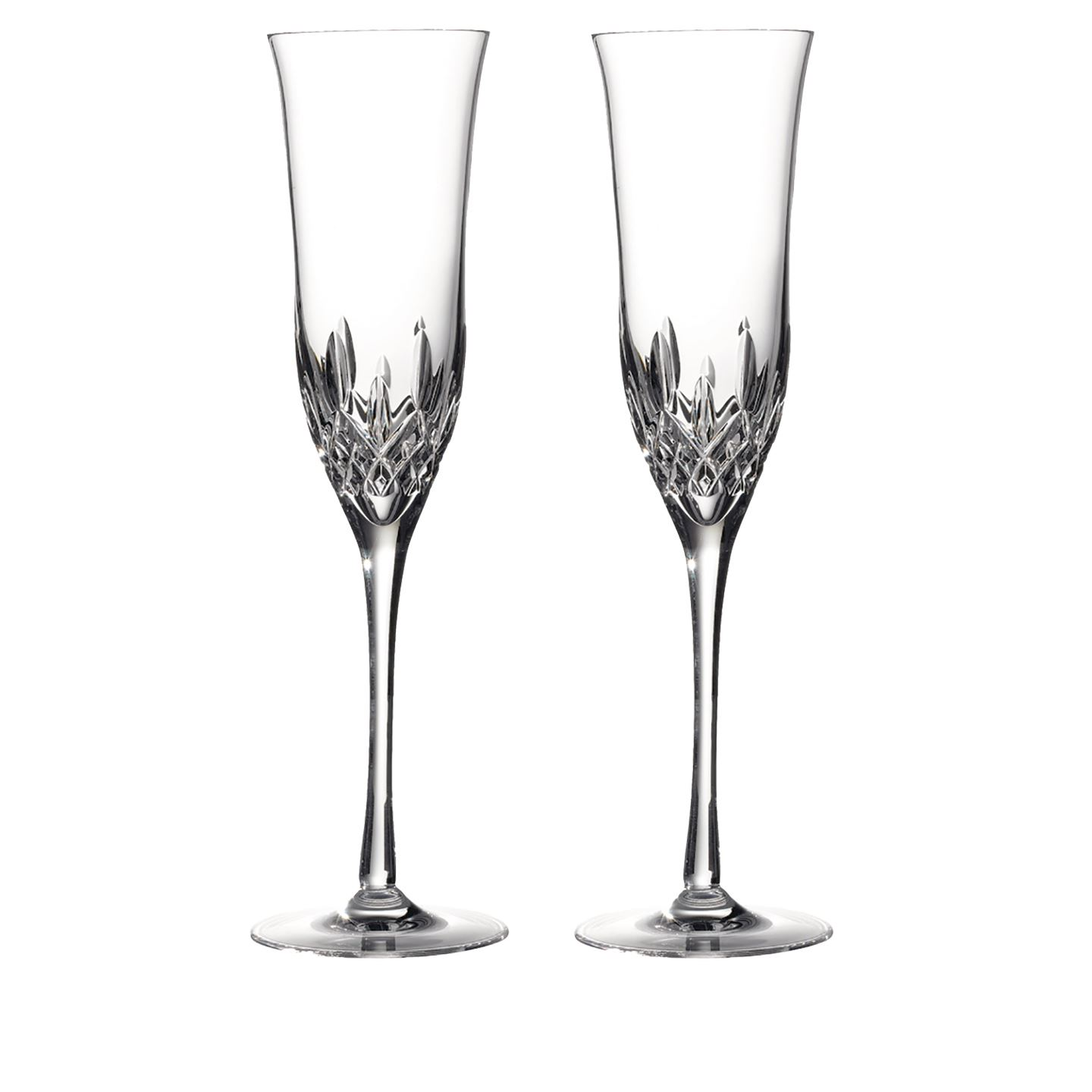 Waterford Lismore Essence Champagne Flute | Set of 2 Glass | Lead Crystal