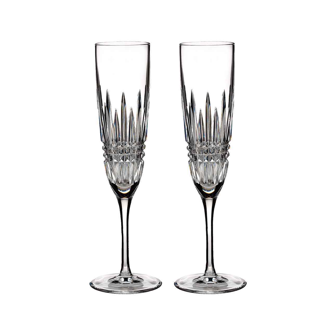 Lismore Diamond Champagne Flute, Set of 2