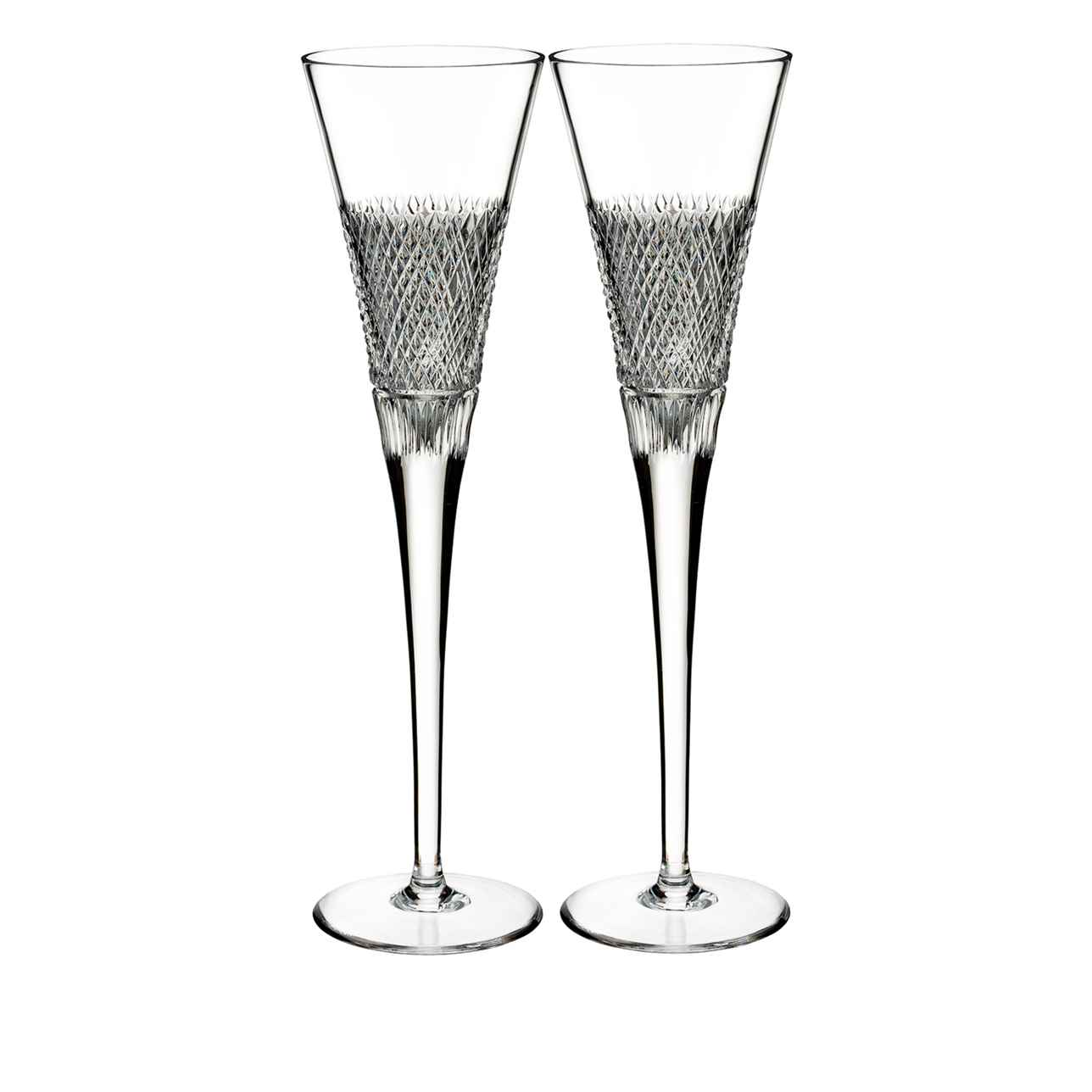 Diamond Line Champagne Flute, Set of 2