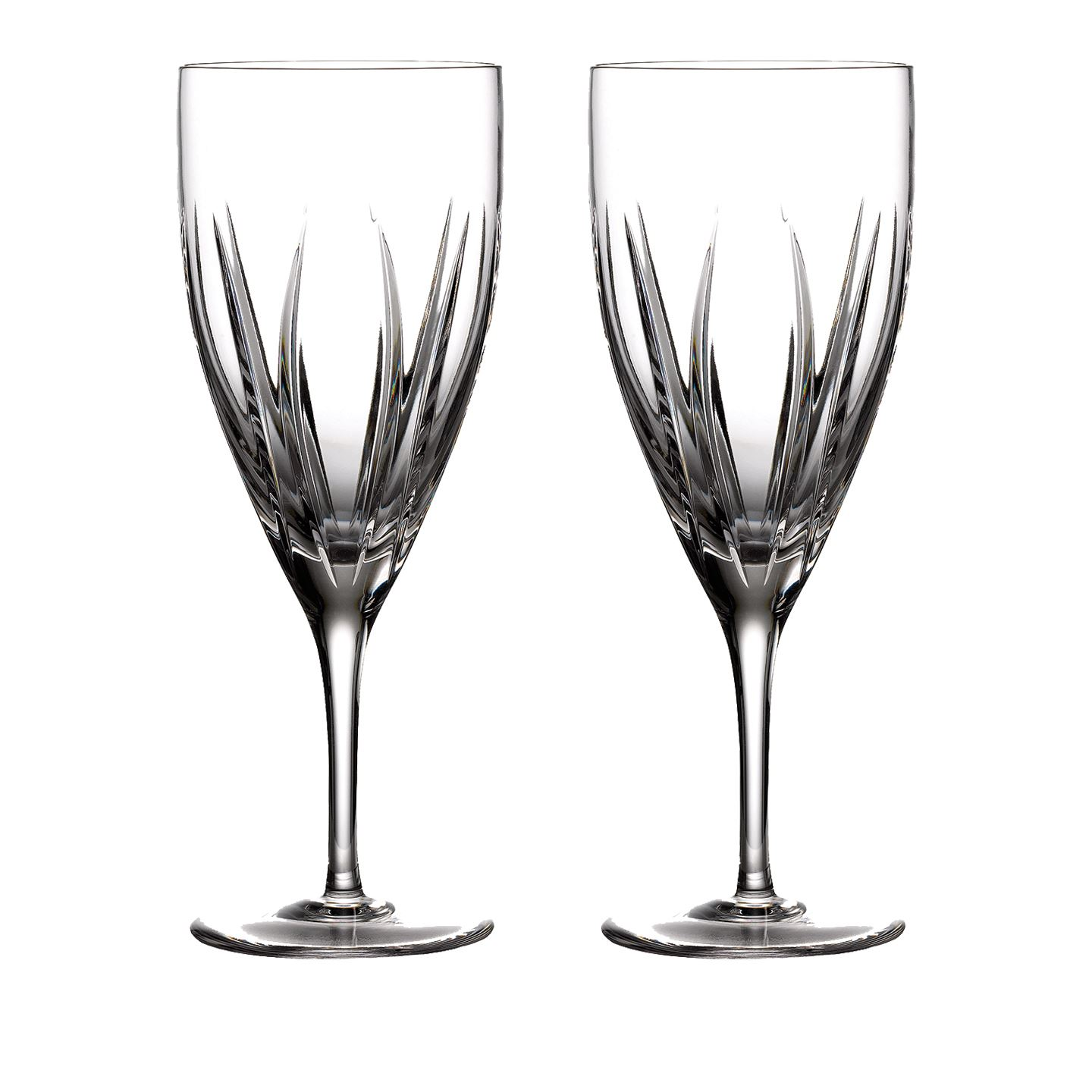 Waterford Tonn Iced Beverage | Set of 2 Champagne Flute Glass | Lead Crystal