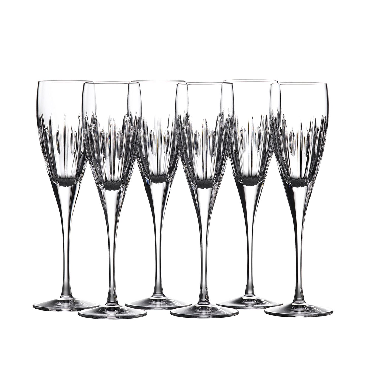 Waterford Mara Champagne Flute | Set of 6 Glass | Lead Crystal