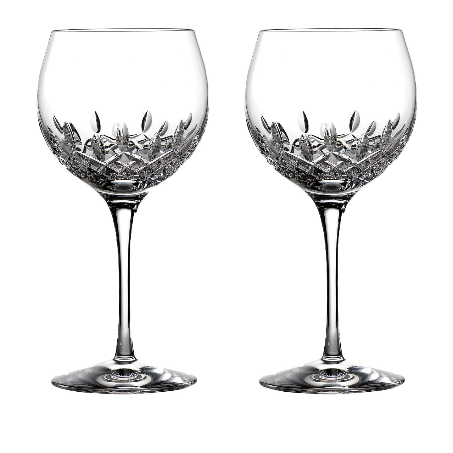 Waterford Lismore Essence Balloon Wine Glass | Set of 2 | Lead Crystal
