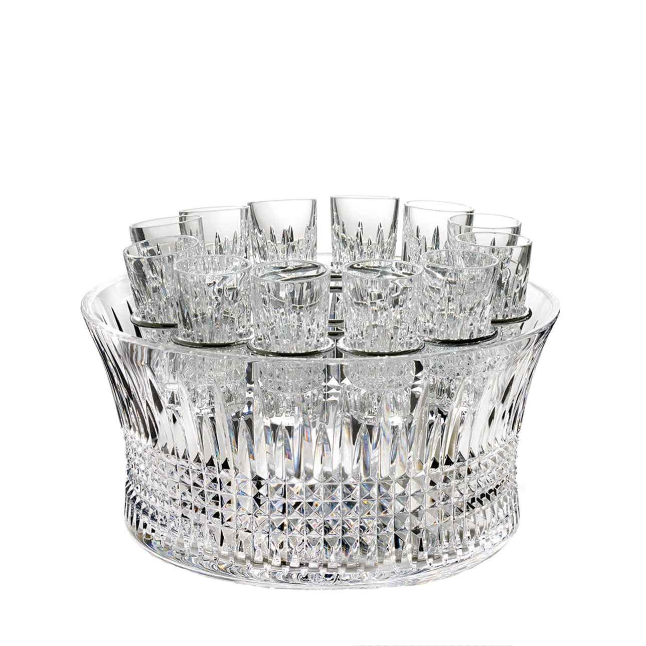 Lismore Diamond 30cm Bowl Vodka Chill Set
