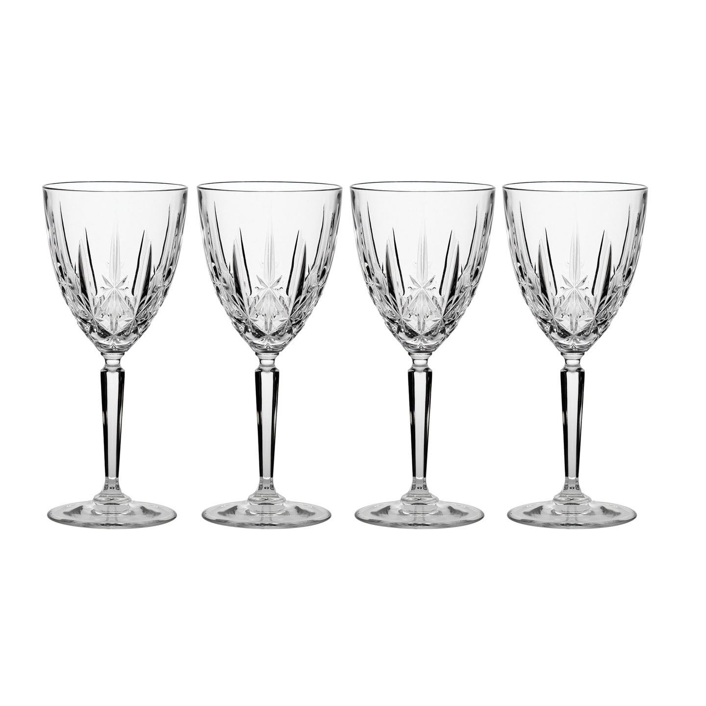 Glassware Waterford Marquis Sparkle Wine Glass | Set of 4 | Crystal
