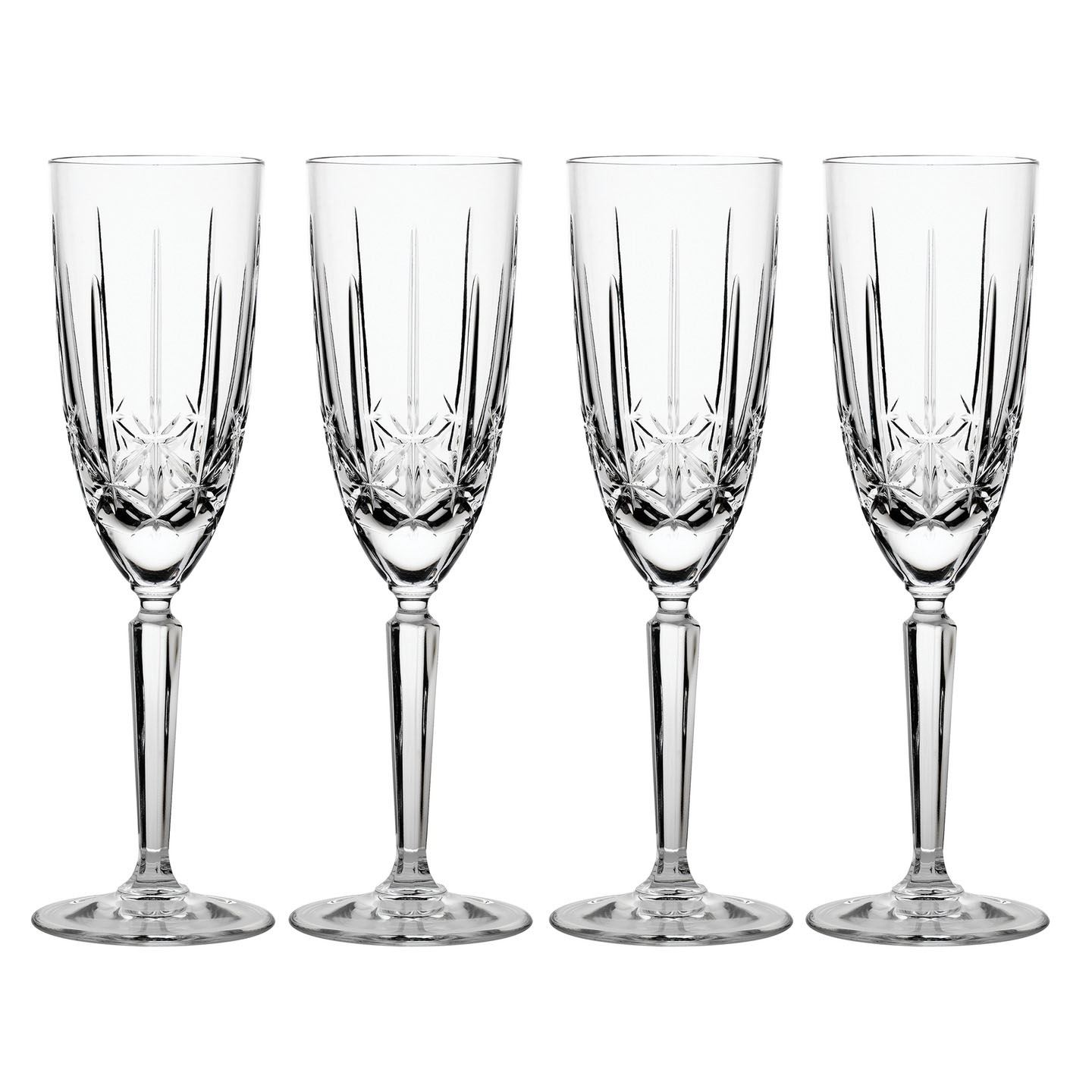 Glassware Waterford Marquis Sparkle Champagne Flutes | Set of 4 Glass | Crystal