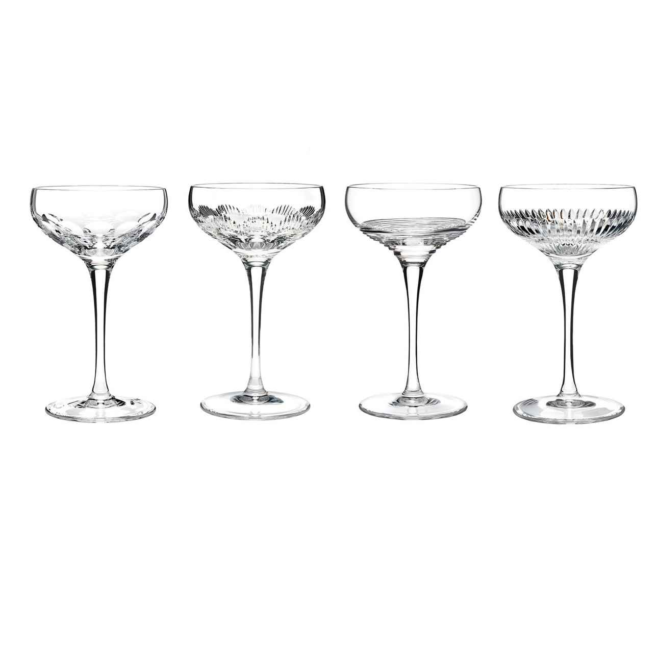 Mixology Champagne Coupe Clear, Set of 4