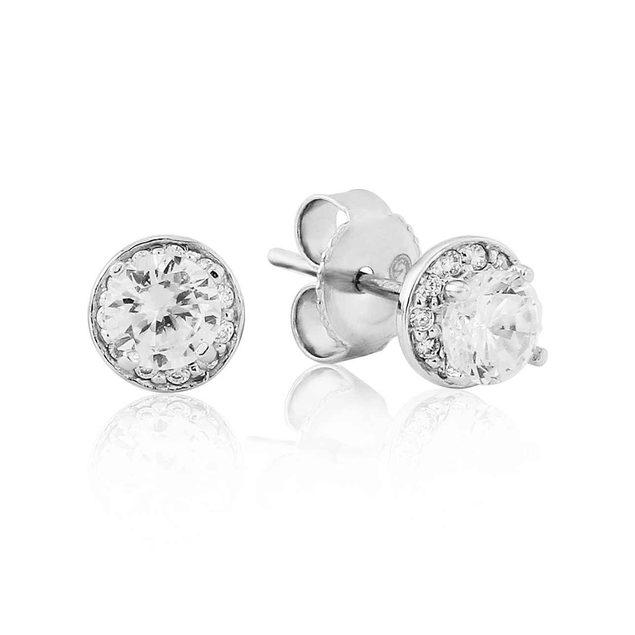 Small Cluster Round Stud Earrings