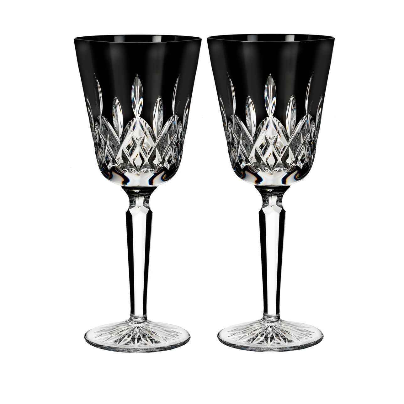 Lismore Black Goblet, Set of 2