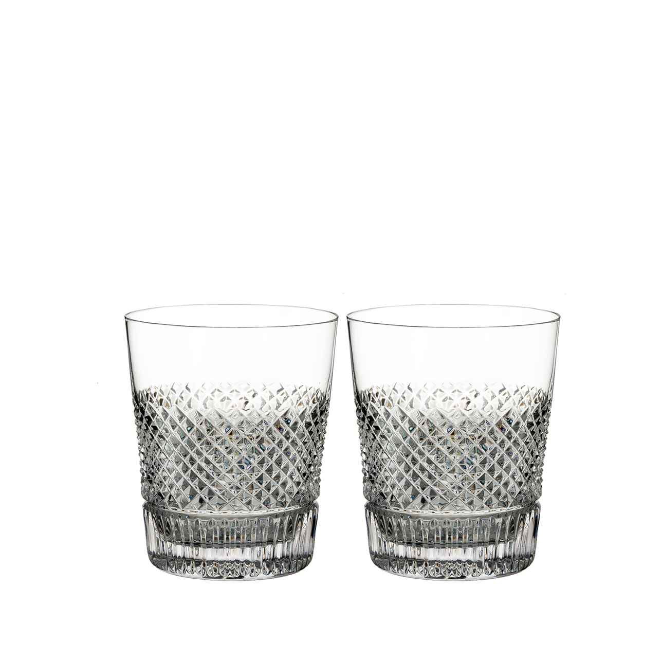 Diamond Line Whiskey Glass, Set of 2