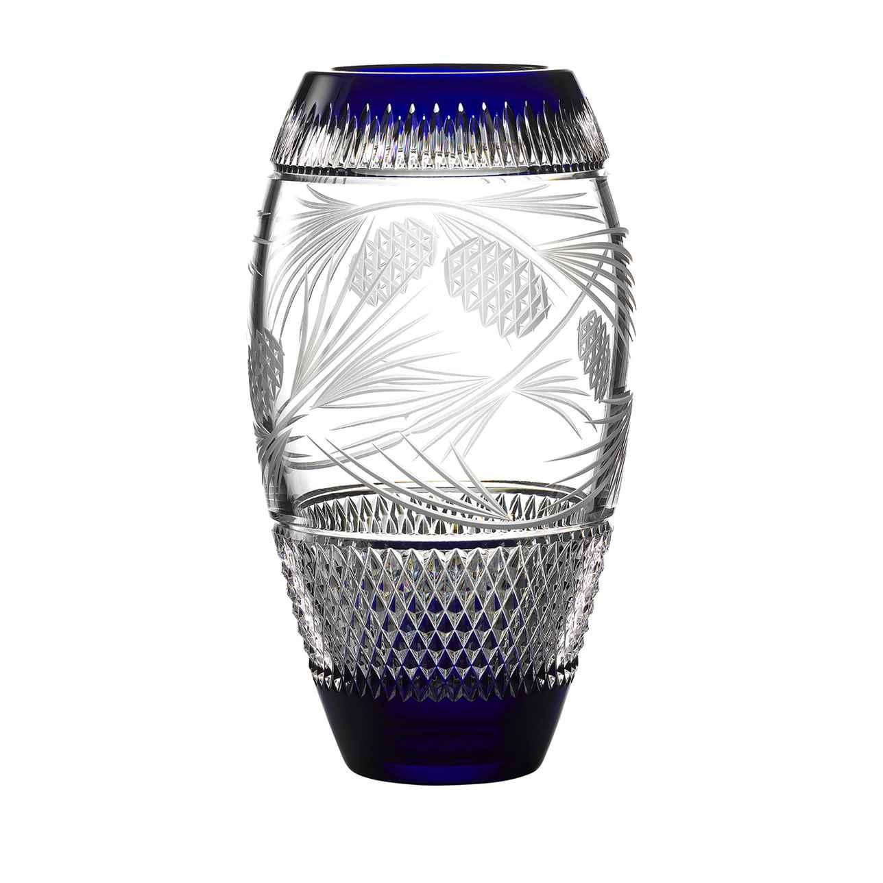 Christmas Mastercraft 13 Vase Cobalt