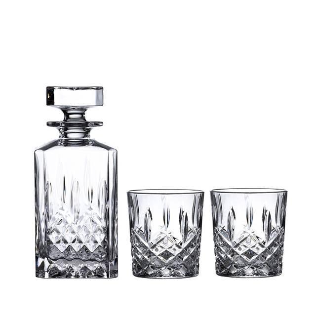 Marquis Markham 11oz Whiskey Glass, Pair & Square Decanter